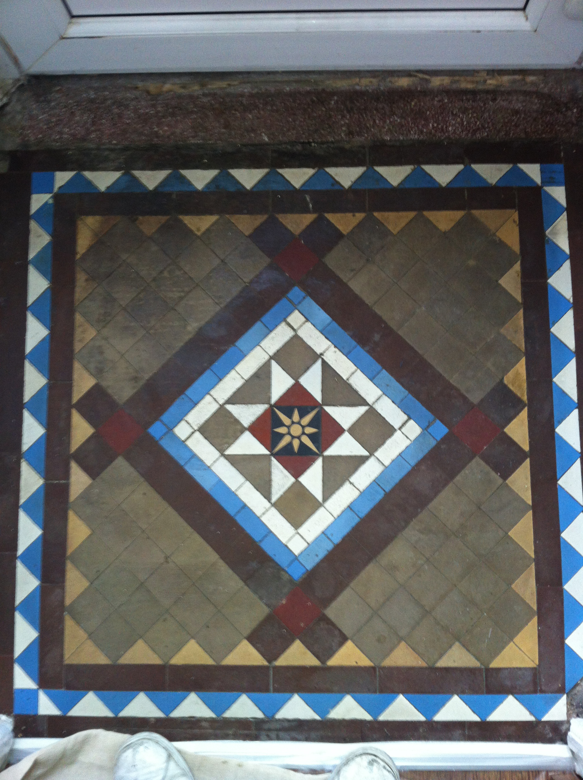 Victorian Tiles Floor Cleaning